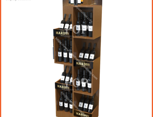 Wholesale Wooden Red Wine Bottle and Wine Glass Display Stand With Poster